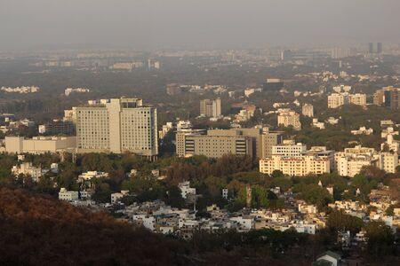 View of Pune city from ARAI centre, Pune, Maharashtra, India