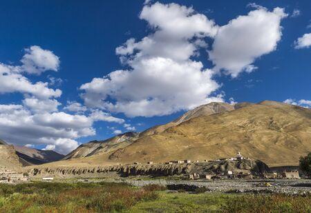 Village enroute Tso Moriri at Ladakh in India