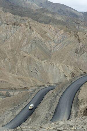 Fotula Pass roads at Ladakh, Jammu and Kashmir, India