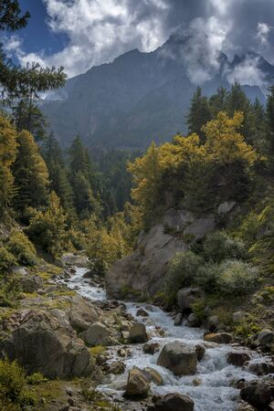 Baspa river, Chitkul at Himachal Pradesh in India