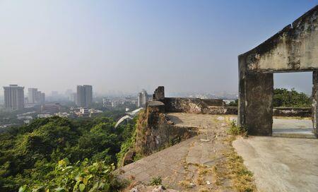 View of Sion fort at Sion in Mumbai, Maharashtra.