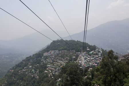 Cable car at Gangtok in Sikkim state of India