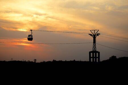 Bedaghat cable ropeway ride at Madhya Pradesh, India Imagens