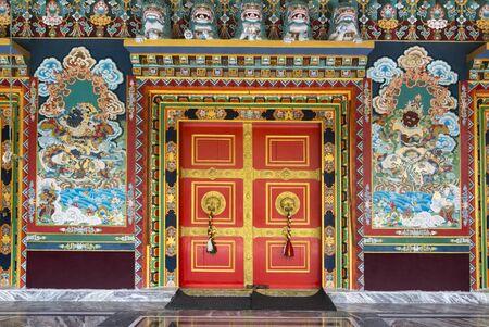 Ralang Monastery door Ravangla at Sikkim, India Imagens