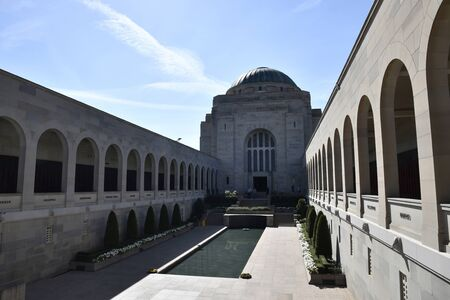 CAMPBELL, AUSTRALIA, April 2019, Tourist at Australian War Memorial