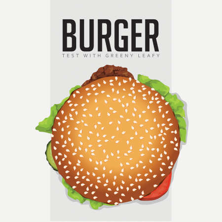 Delicious Burger top view