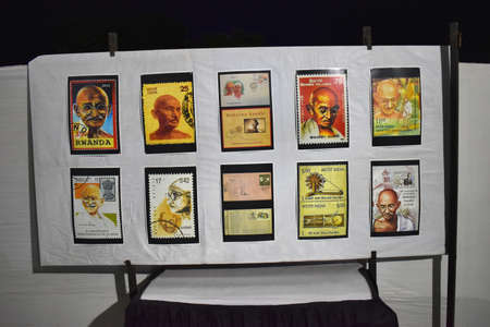 Printed Postage stamps depicting Mahatma Gandhi, issued by India in 1948, is one of India's most famous stamps