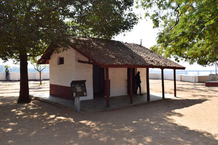 Residential Hut of Vinoba and Mira at Sabarmati Ashram or Gandhi Ashram