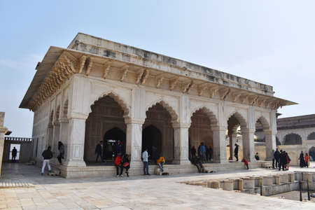 Agra, Uttar Pradesh, January 2020, Diwan-i-khas inside the Agra Fort was meant for important guests