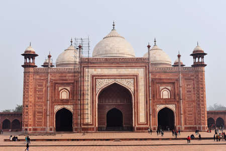Front view of Mehman Khana or Guesthouse Taj Mahal Complex