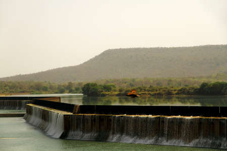 Gangau Dam situated inside the Panna Tiger Reserve, Madhya Pradesh, India