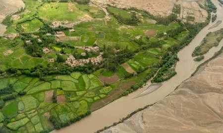 Indus River from Flight Window, Ladakh, India