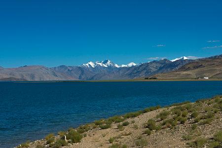 Tso Moriri or Mountain Lake, Ladakh, India. Largest of the high altitude lakes entirely within India. Water is brackish