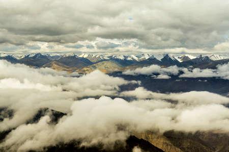 Himalayas from Flight Window, Ladakh, India