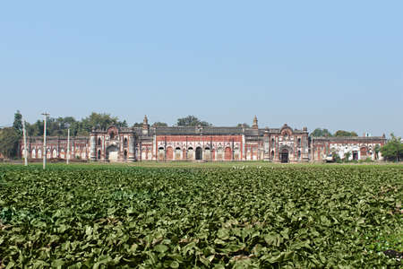 View of old palace. Darbhanga Raj. Lost city of Rajnagar in Bihar famous for its palaces, temples and architectural beauty.  Darbhanga, Bihar, India. Stock Photo