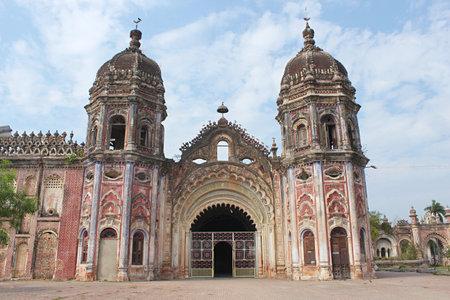 Durga temple, Rajnagar palatial complex ruins, Bihar, india. Imagens