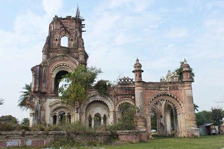 Damaged wall  of Navlakha palace, Rajnagar, Bihar, india.