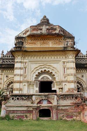 Durga temple , Rajnagar palatial complex ruins, Bihar, india. Imagens