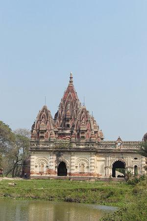Durga temple side view, Rajnagar palatial complex ruins, Bihar, india.