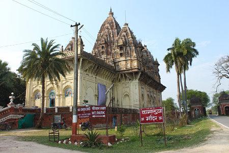Kamakhaya Temple built on a high brick platform, Rajnagar, Bihar, india.