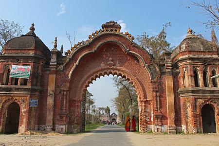 Main entrance gate of Navlakha Palace, Rajnagar, Bihar, india.