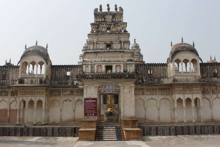 Rangji Temple, a South Indian style temple, dedicated to Hindu God Vishnu and one of the famous temples in Pushkar, Rajasthan, India.