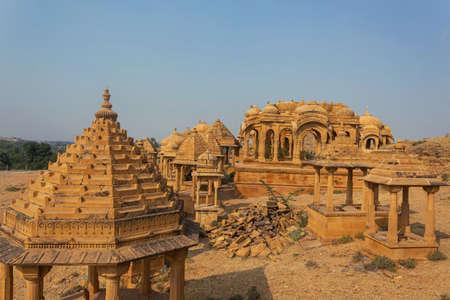 Outside architecture of Patwon ki Haveli, jaisalmer, Rajasthan, India. Imagens