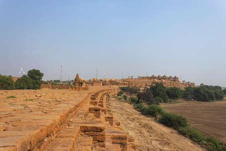 Outside architecture of Patwon ki Haveli, jaisalmer, Rajasthan, India. Editorial