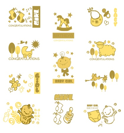 Baby & Kids hand drawn Illustration
