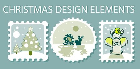 christmas elements Stock Vector - 9631759