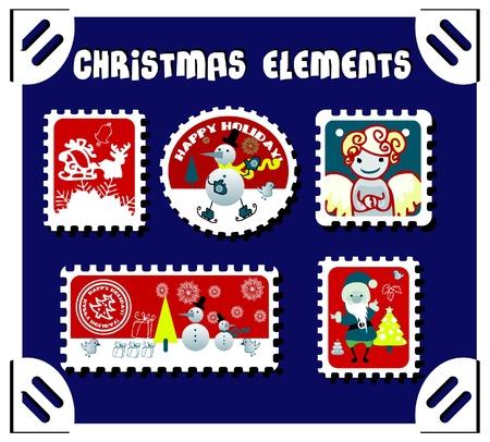 winter postage set Stock Vector - 9631928