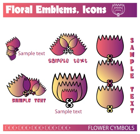 plats: gallerie flowers vectors, emblems, icons
