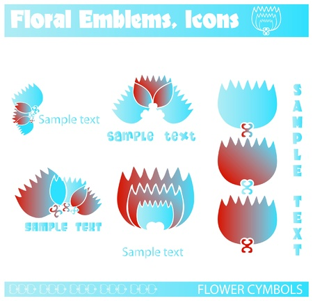 gallerie flowers vectors, emblems, icons Stock Vector - 9631885