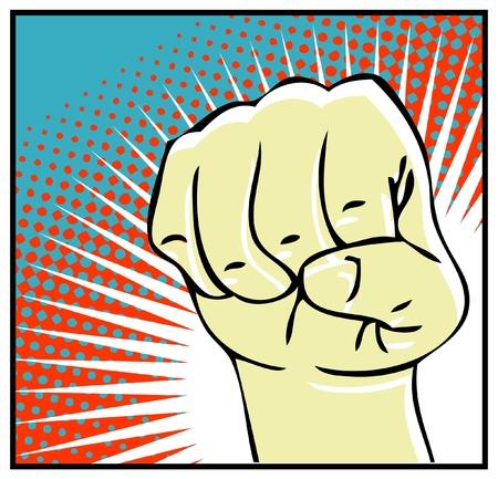 obscene: Pop Art dripping fist  human hand