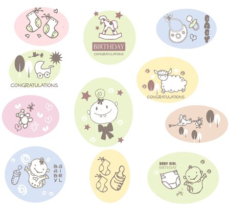 squiggles: baby icons Illustration
