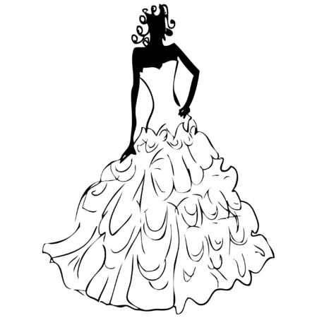 Wedding dress Stock Vector - 9631755