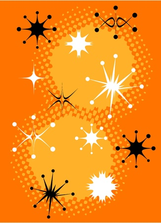 Retro Stars Clip Art Vintage Illustration
