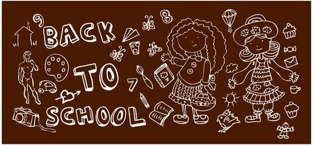 Back to school doodles Stock Vector - 9885230