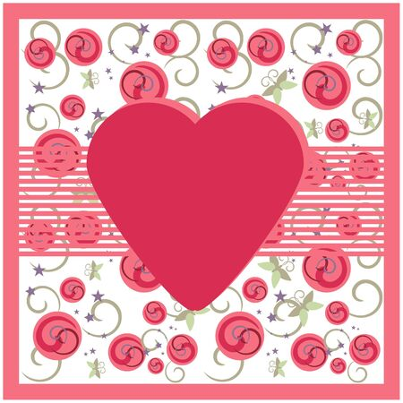 Greeting card on floral background Vector