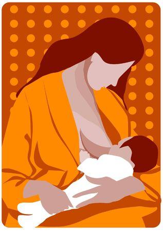 illustration of motherhood Stock Vector - 9885222
