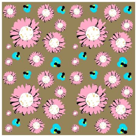 Seamless daisies wallpaper Vector