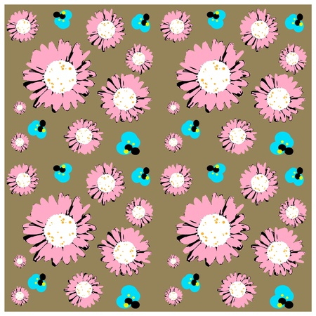 ox eye daisy: Seamless daisies wallpaper