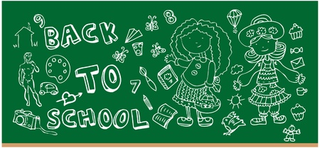 Back to school doodle Hand-Drawn BTS Sketchy Doodles Stock Vector - 9935149