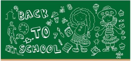 Back to school doodle Hand-Drawn BTS Sketchy Doodles