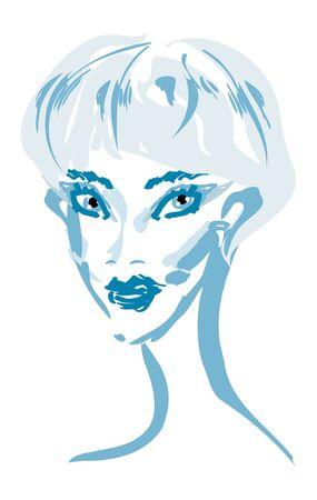 beautiful woman face Stock Vector - 9935154