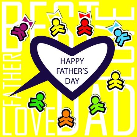 salutations: Dads kids love card background invitation Illustration