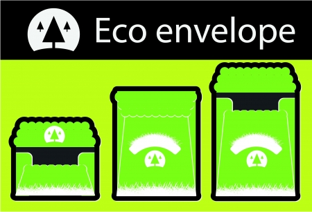 ecology envelope template Vector
