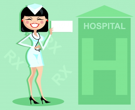 Hospital advertising blank banner with doctor announce Stock Vector - 15770913