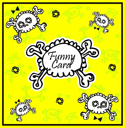Very cute Skull with bow on background with place for copytext  Vector