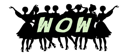 Wow - Advertising Headline - Retro Clip Art  popart comic collection Vector